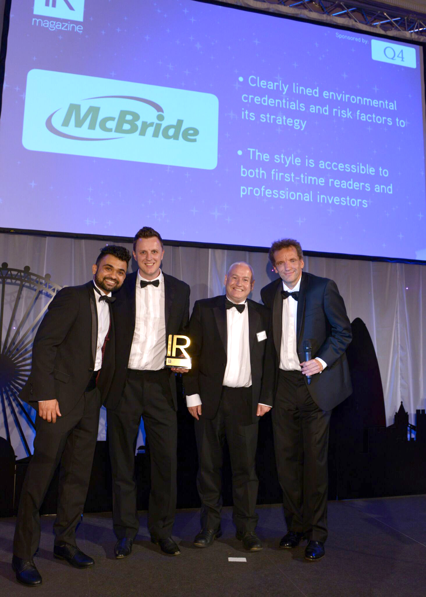 McBride plc wins Best Annual Report